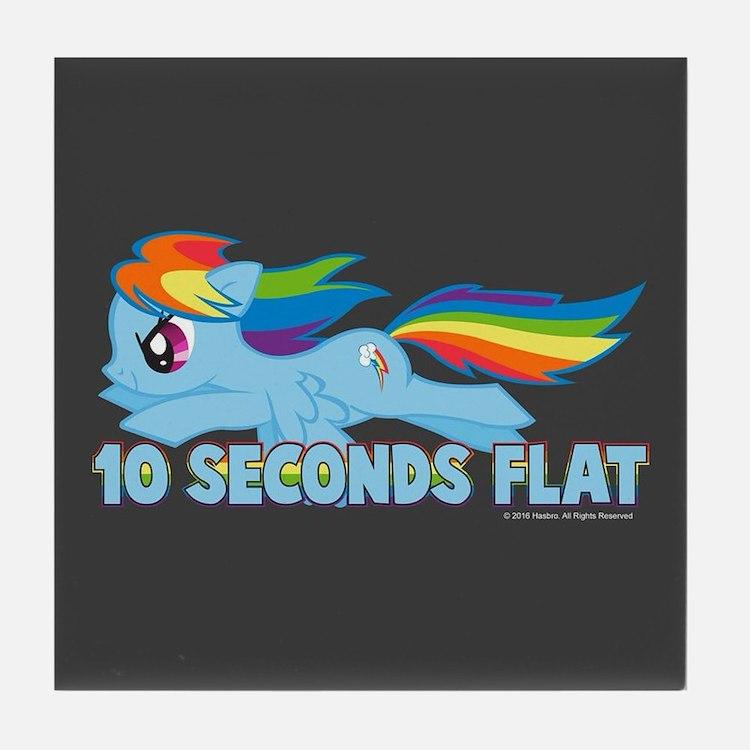 MLP Rainbow Dash 10 Seconds Tile Coaster