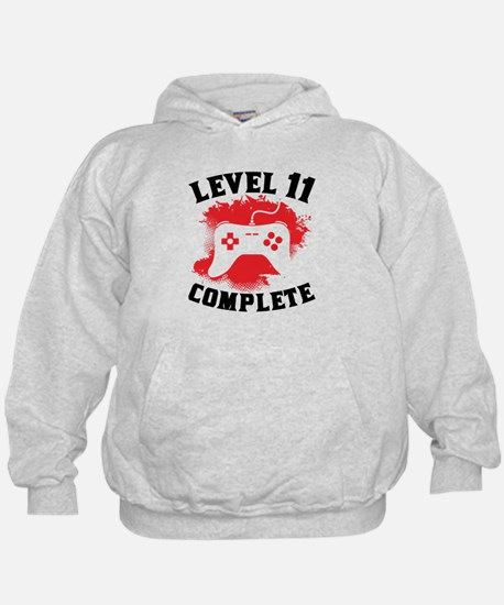 Level 11 Complete 11th Birthday Hoodie