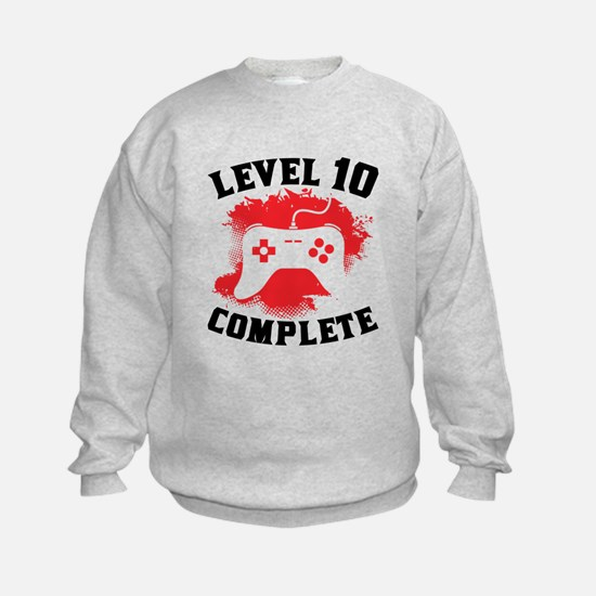 Level 10 Complete 10th Birthday Sweatshirt