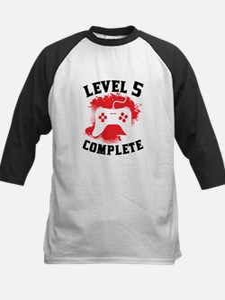 Level 5 Complete 5th Birthday Baseball Jersey