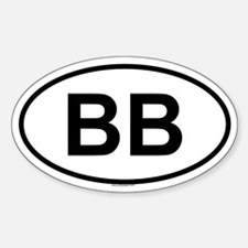 BB Oval Decal