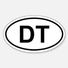 DT Oval Decal