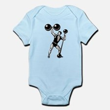 EUGENE SANDOW GYM Infant Bodysuit