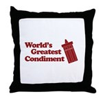 World's Greatest Condiment Throw Pillow