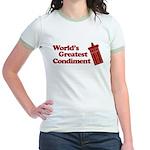 World's Greatest Condiment Jr. Ringer T-Shirt