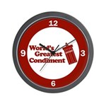 World's Greatest Condiment Wall Clock