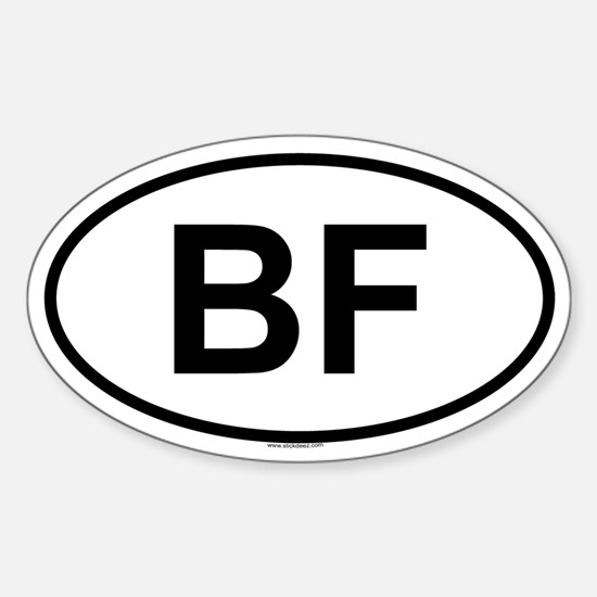 BF Oval Decal