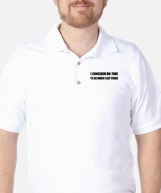 On Time Get There Golf Shirt