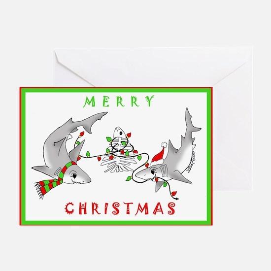 Christmas Sharks Greeting Cards (Pk of 20)