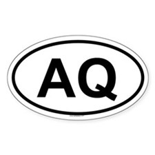 AQ Oval Decal