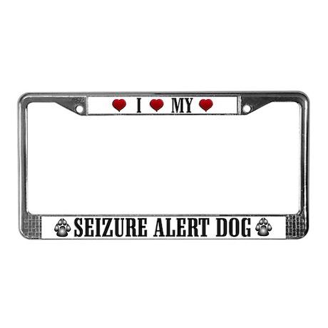 Seizure Alert Dog License Plate Frame
