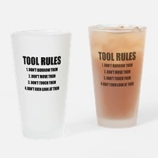 Tool Rules Drinking Glass