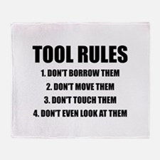 Tool Rules Throw Blanket