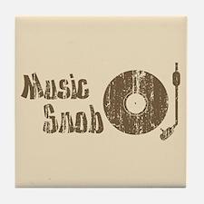 Music Snob Tile Coaster