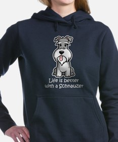 Cute Miniature schnauzer Women's Hooded Sweatshirt