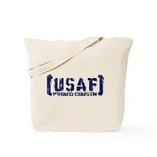 Proud USAF Csn - Tatterd Style Tote Bag