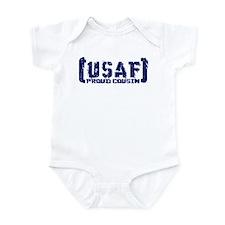 Proud USAF Csn - Tatterd Style Infant Bodysuit