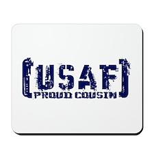 Proud USAF Csn - Tatterd Style Mousepad
