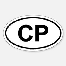 CP Oval Decal