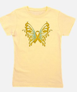 Unique Childhood cancer ribbon Girl's Tee