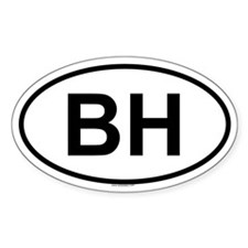 BH Oval Decal