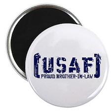 Proud USAF BroNlaw - Tatterd Style Magnet