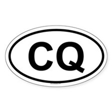 CQ Oval Decal