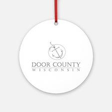 Door County Anchor Round Ornament