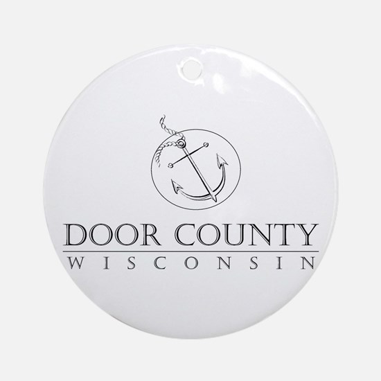 Door County Anchor Round Ornament