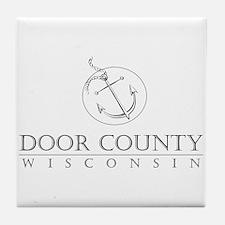 Door County Anchor Tile Coaster