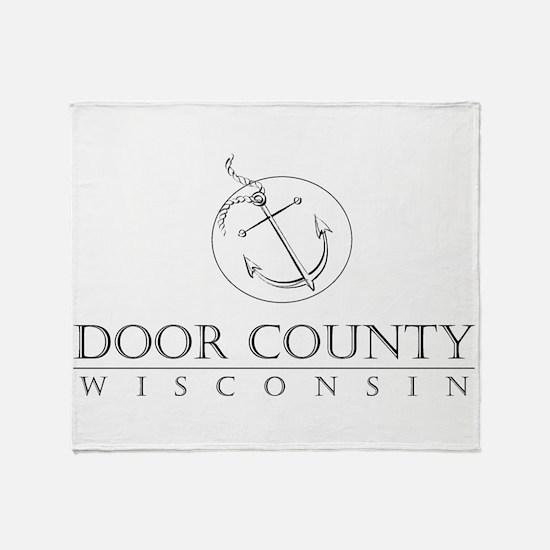 Door County Anchor Throw Blanket