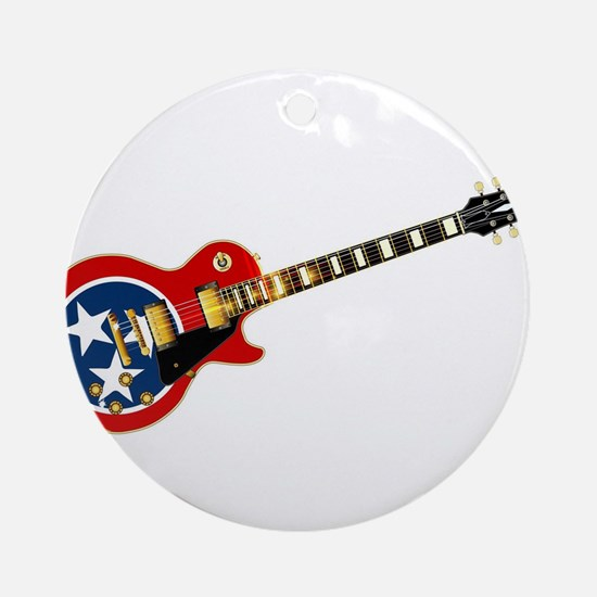 Tennessee Flag Guitar Guitar Round Ornament