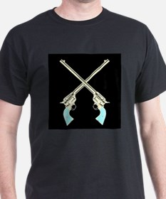 Crossed Guns Pair T-Shirt