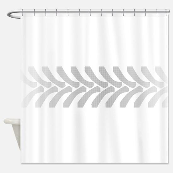 Halftone Tractor Tyre Marks Shower Curtain
