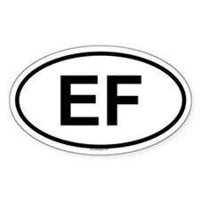 EF Oval Decal