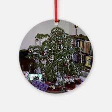 retro Christmas tree Round Ornament