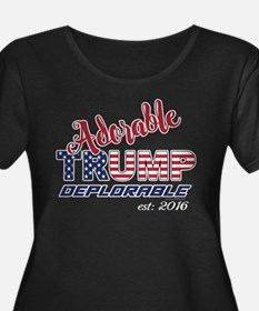 Adorable TRUMP Deplorable 2016 Plus Size T-Shirt