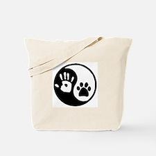Yin Yang Hand Paw Tote Bag