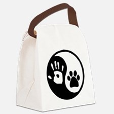 Yin Yang Hand Paw Canvas Lunch Bag