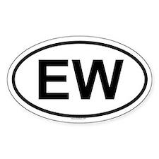 EW Oval Decal