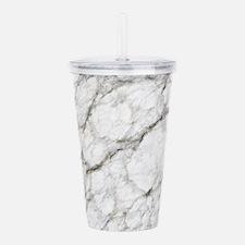 Marble Texture Art Acrylic Double-wall Tumbler