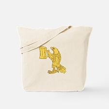 American Bald Eagle Beer Stein Drawing Tote Bag