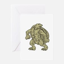 Ridley Sea Turtle Martial Arts Stance Drawing Gree