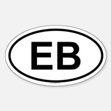 EB Oval Decal