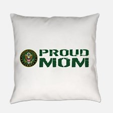 U.S. Army: Proud Mom (Green & Whit Everyday Pillow