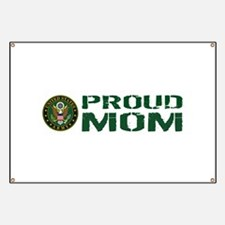 U.S. Army: Proud Mom (Green & White) Banner