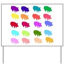 Rainbow Pigs Yard Sign