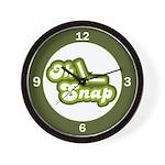 Oh Snap Wall Clock