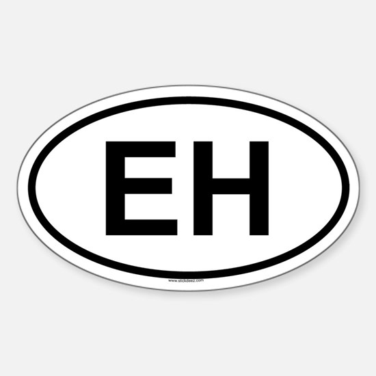 EH Oval Decal
