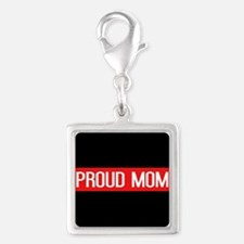 Firefighter: Proud Mom (The T Silver Square Charm